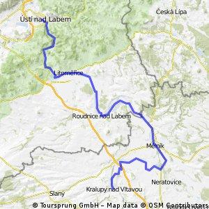 Elbe Radweg Etappe 2: Kralupy - Usti nad Labem