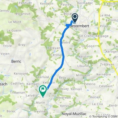 De 4 Place du 8 Mai 1945, Questembert à Route de la Croix Neuve, Noyal-Muzillac