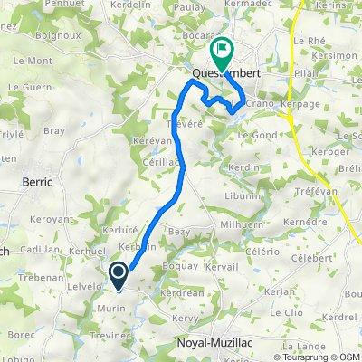 De Route de la Croix Neuve, Noyal-Muzillac à 5 Rue Alain Legrand, Questembert