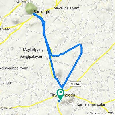 Tiruchengode - Paramathi - Velur Road 26q to Tiruchengode - Paramathi - Velur Road 26q