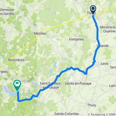 De 361 La Baignade, Toucy à 823 Réservoir du Bourdon, Saint-Fargeau