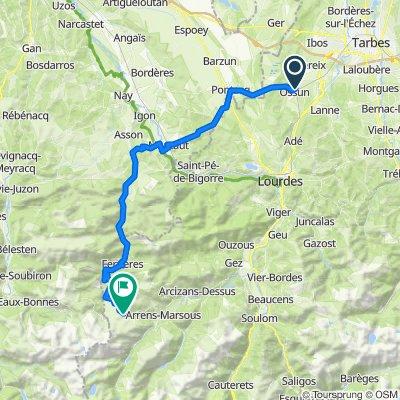 De 2B Impasse Racine, Ossun à 136 Route du Soulor, Arrens-Marsous