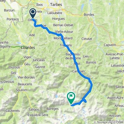 De 2B Impasse Racine, Ossun à D918, Bagnères-de-Bigorre