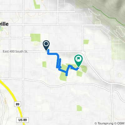 Route from 759 E 400 S St, Springville
