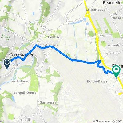 De 16 Chemin de Carredon, Cornebarrieu à 3 Rue Raymond Grimaud, Blagnac