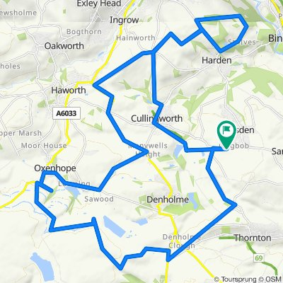 Wilsden,Oxenhope Moor, St Ives, Cullingworth Loop