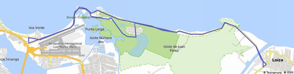 Isla Verde a los Cocoteros de Loiza 25 Millas