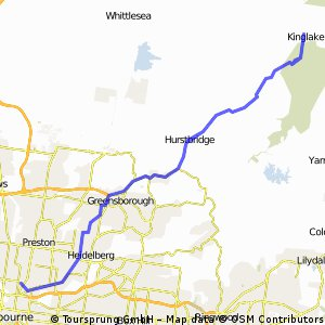 Hurstbridge - Kinglake - Fitzroy North