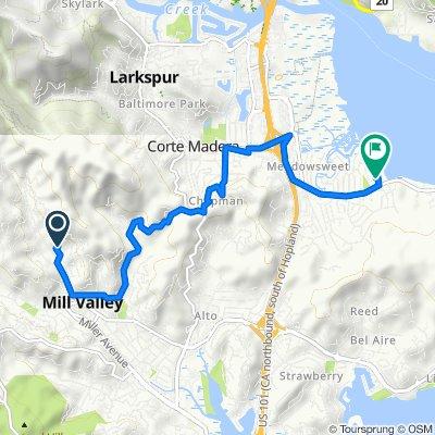 123 Eldridge Ave, Mill Valley to 330 Golden Hind Passage, Corte Madera