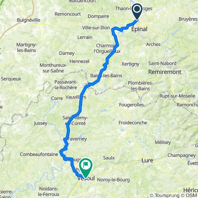 Dag 7. Epinal - Vesoul 102 km