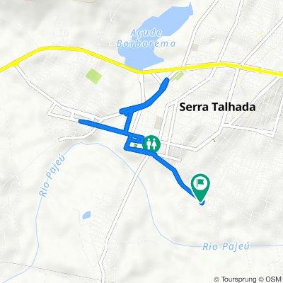 De Avenida Custódio Conrrado, 514–652, Serra Talhada a Rua Irineu Alves Magalhães, Serra Talhada