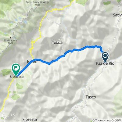 De Carrera 4 1055, Paz de Río a Calle 8 7-48, Cerinza