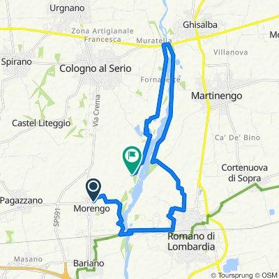 Percorso da Via Serio, Morengo