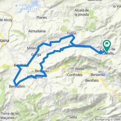 Denia 6: Castell de Castells - Benifallim - Penaguila - Quatretondeta - Castell de Castells
