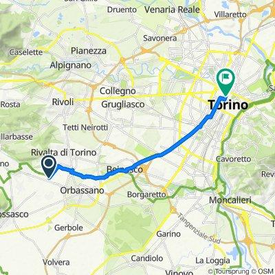 Da Via Piossasco, Hella a Piazza Palazzo di Città 1, Torino