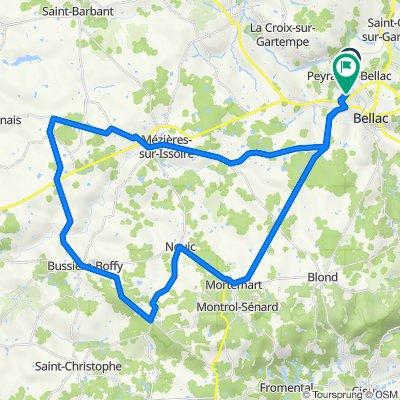 De Rue de la Colline 21, Peyrat-de-Bellac à Route de la Ribière 24, Peyrat-de-Bellac