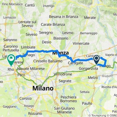 Da Via Roma, Bellinzago Lombardo a Via Achille Ratti, Rho