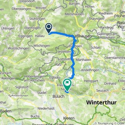 Dorfstrasse 24, Gächlingen nach Allmendstrasse 1, Rorbas