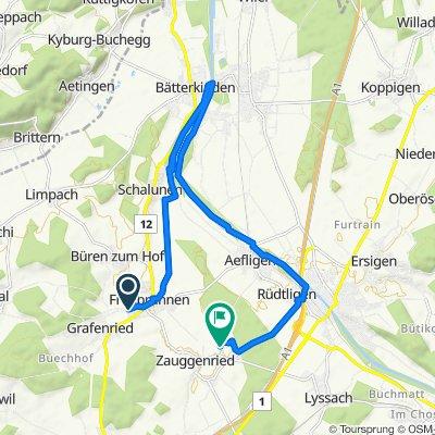 Erliweg 25, Fraubrunnen nach Aefligenstrasse 5C, Fraubrunnen