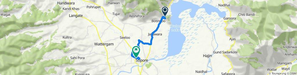 Route to Nowpora Road, Sopore