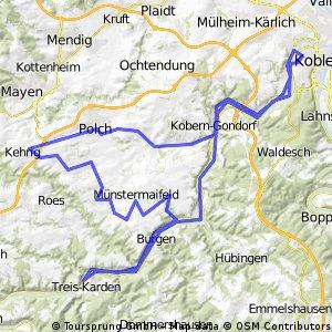 Fahrt in den Frühling 2013 - RTF des Radsportclub Kelto-Rhenania 1922 e.V. Koblenz - 115 km Strecke