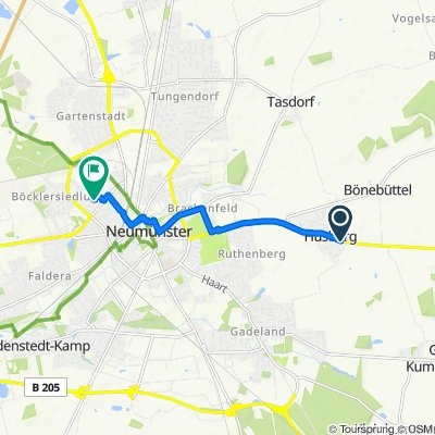 Plöner Chaussee 83–89, Bönebüttel nach Beethovenstraße 40, Neumünster