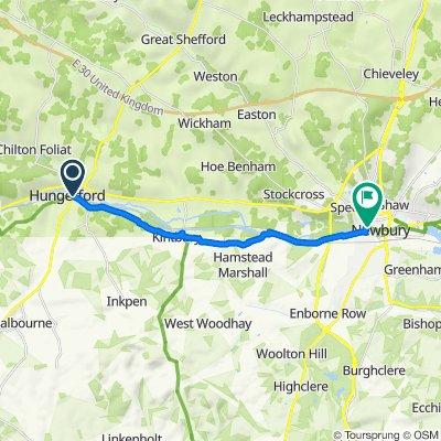 1 Bewick Medows, Hungerford to Northcroft Recreation Centre, Northcroft Lane, Newbury