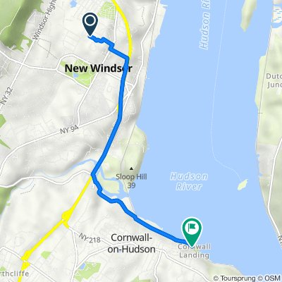 22 Sunset Dr, New Windsor to Dock Hill Rd, Cornwall on Hudson
