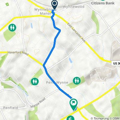 15 E Wynnewood Rd, Wynnewood to 1412 Edgevale Rd, Wynnewood