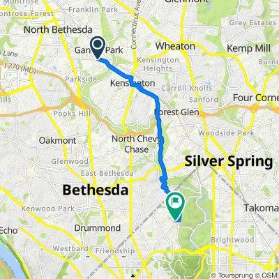 10901–10913 Montrose Ave, Garrett Park to 2848–2898 Tennyson St NW, Washington