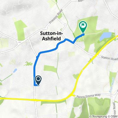 97 Collins Ave, Sutton-In-Ashfield to Lawn Lane, Sutton-In-Ashfield