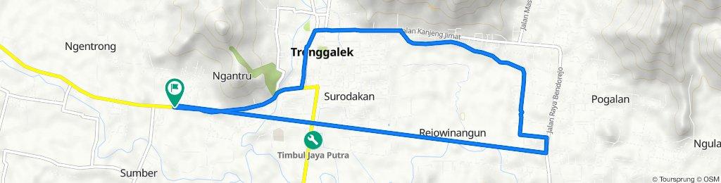 Jalan Raya Trenggalek - Ponorogo, Karangan to Sumber, Kecamatan Trenggalek