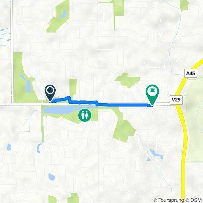 1395 Amberwood Dr, Crystal Lake to 1353 Fountain Green Dr, Crystal Lake