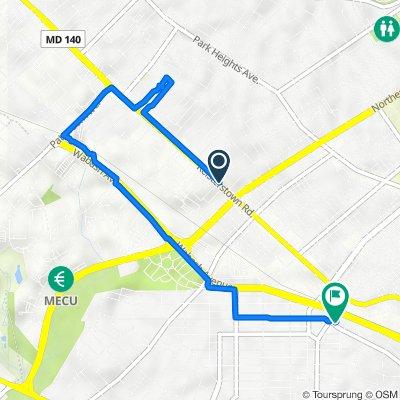Reisterstown Road 5637, Baltimore to Dolfield Avenue 3962, Baltimore