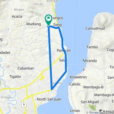 Mudiang Road, Davao City to Mudiang Road, Davao City
