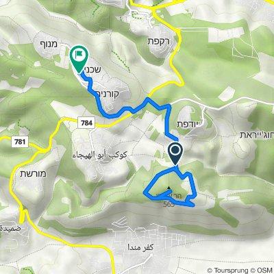 Route to Lotem Street 295–299, Shechaniya