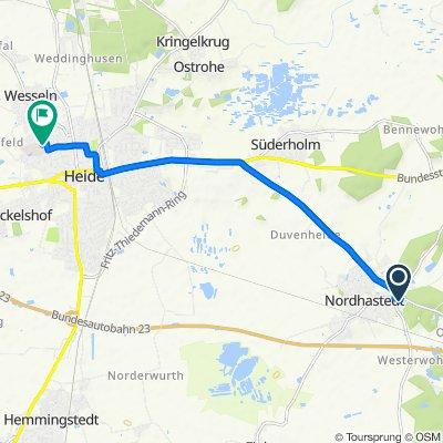 Klaus-Groth-Straße 41, Nordhastedt nach Am Nußgang 26–30, Heide