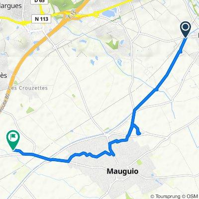 De D106e2, Mudaison à 999 Chemin de Montpellier, Mauguio