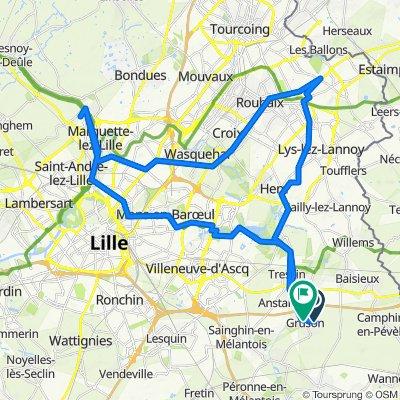 De 14–19 Rue des Lilas, Gruson à Rue de Verdun, Gruson