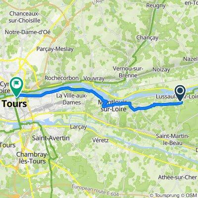 18B Vallée Saint-Martin, Lussault-sur-Loire to 41 Rue Lavoisier, Tours