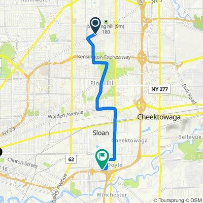 1603 Kensington Ave, Buffalo to 609 Dingens St, Buffalo
