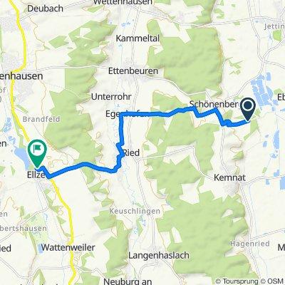 Route nach Nordendstraße 8, Ellzee