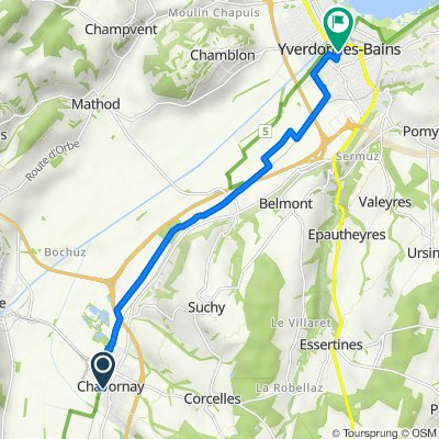 De Chemin du Verger 31, Chavornay à Rue Pestalozzi 1, Yverdon-les-Bains