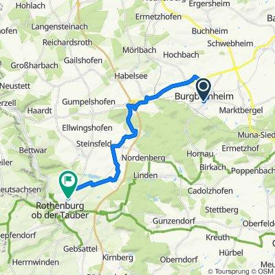Hirtenbücklein 5, Burgbernheim nach Wiesenstraße 7, Rothenburg ob der Tauber