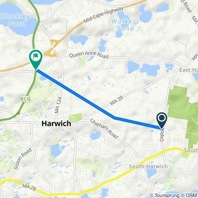 81 Depot Rd, Harwich to 5 Penobscot Way, Harwich