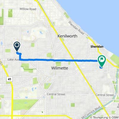 1045 Mohawk Rd, Wilmette to 517 Central Ave, Wilmette