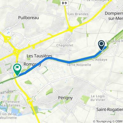 Itinéraire vers 70–78 Avenue Louise Pinchon, Périgny