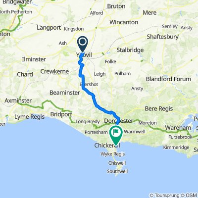 Yeovil to Weymouth