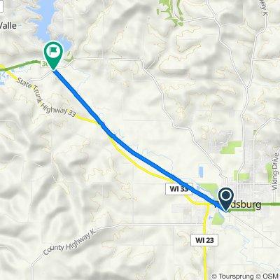 S Walnut St, Reedsburg to E4473–E4475 CTH-V, Reedsburg