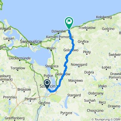 Szczecin - Pobierowo 105km